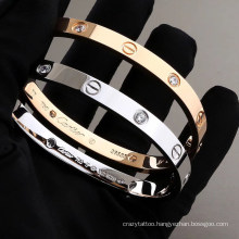Europe and The United States Ins Trend Fashion Love Eternal Ring Stainless Steel Screwdriver Couple Bracelet
