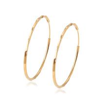 97348 xuping hot selling high quality big circle18k gold color elegant ladies hoop earrings
