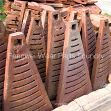 High Manganese Casting Ball Mill Spares Parts Liner Plate