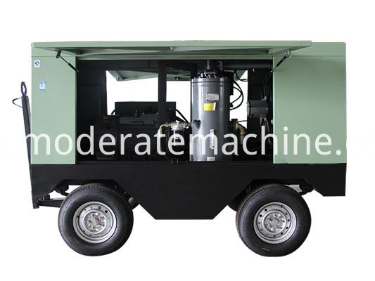 QK-90DY-13KW Movable Screw Air Compressor1