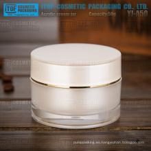 Pared gruesa 50g YJ-A50 interior pintado tarro de acrílico perla del cilindro blanco de buena calidad