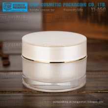 Parede espessa de 50g de YJ-A50 interior pintado frasco acrílico pérola de boa qualidade cilindro branco