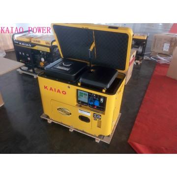 AC Single Phase 5kw Key Start silencioso Canopy Gerador Diesel para uso de hotel
