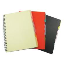Black PP Cover Spiral Notebook A5 Carnet d'adresses