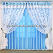 Cortinas cortas del cordón suave Estilo del telar jacquar / cortina del cordón de la manera