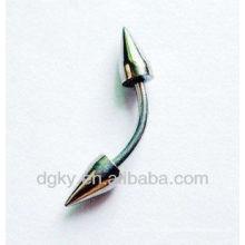 Jóia de aço inoxidável sobrancelha espiral anel jóias