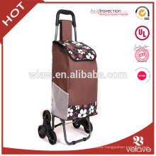 classic six wheels folding shopping trolley