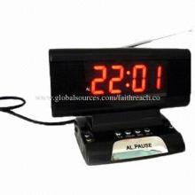 LED Digital Alarm Clock Radio, 220V AC/50Hz, Made of Original ABS/PS Crust Material