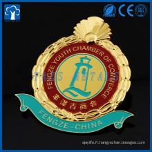 badge logo de voiture en émail plaqué