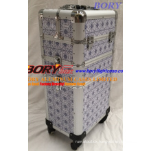 Portable Trolley Suitcase Cosmetic Case