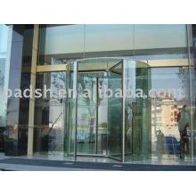 Porte tournante pleine en verre