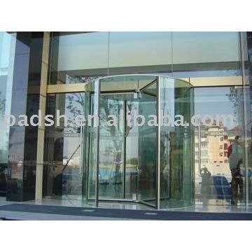 Porta giratória de vidro completo
