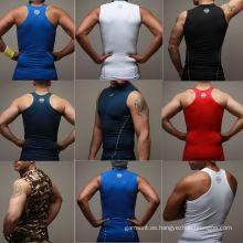 Venta al por mayor de humedad de los hombres Wicking Sports Wear, materiales deportivos