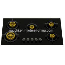 Supreme 5 Brass Burner Gas Hob (8mm Glass)