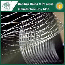 Stainless steel wire rope netting/furruled rope mesh for construction work fence