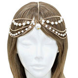 Fashion Hair Band, Decorated with Pearls, Customized Designs Accepted, Nickel- and Lead-freeNew