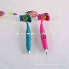 Pieds de forme stylo caoutchouc souple fantaisie logo personnalisé