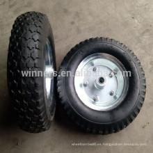 4.10 / 3.50-6 ruedas de goma neumáticas para carro de carro de jardín