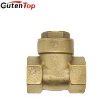 """Gutentop 1/2 """"não retornam válvulas de verificação de bronze do balanço da válvula de esfera para a água"""