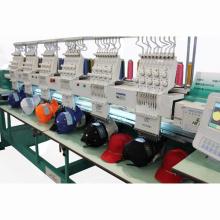 6 cabeças 9 agulhas camisa/boné bordado máquina / maquinaria