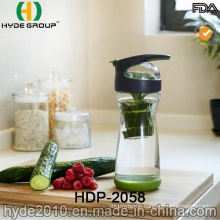 Fresh BPA Free High Borosilicate Glass Fruit Infuser Bottle, Popular Glass Water Bottle (HDP-2058)
