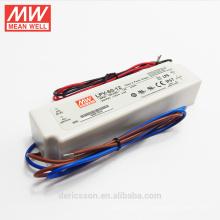 Boa qualidade 6 w para 150 W caixa de plástico UL CE ROHS 12 volts levou motorista 60 w LPV-60-12