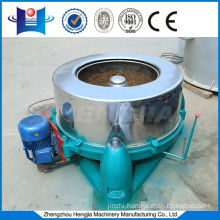 High speed centrifugal dehydration machine for high humidity materials
