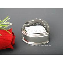 Heart-Shaped Ring Box, Metal Ring Box