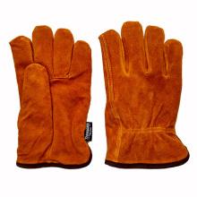Vaca de cuero dividido conductores de invierno guantes de trabajo con Thinsulate revestimiento completo