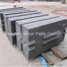 Barre de coup de pièces de rechange de broyeur d'acier au manganèse Hazemag d'OEM