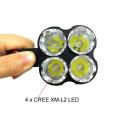 Jexree alta potência recarregável 3500lm lanterna 4 * LED 4 * 18650 bateria