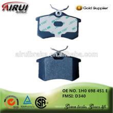 Almofadas de freio das vendas quentes da alta qualidade, auto peças Fabricante chinês 1H0 698 451 E / D340