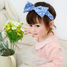 Christmas gift  Bowknot Flower headband Baby hair soft stretch baby hair band sunshine hair of children
