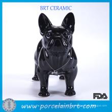 Melhor Amigo Bulldog Francês de Resina Negra