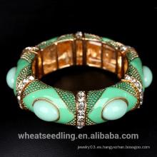 Pulsera del brazalete de las mujeres del estilo de Boho Joyas étnicas de la piedra preciosa colorida Joyería de la Arabia Saudita