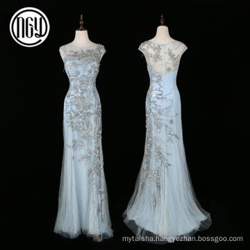Custom made embroidery western formal evening dress wholesale