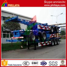 2 Achsen 20FT 40FT Semi Container Skeleton Anhänger mit Schlössern