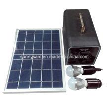 Système solaire portatif de la puissance 10W à la maison pour l'usage à la maison de camping