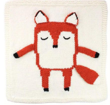 Crochet कपास नवजात फॉक्स कंबल