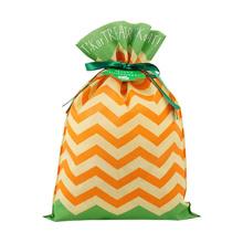 Bolsa de embalaje de regalo de Halloween verde naranja mixta 30x45 cm