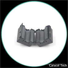 NiZn Soft Magnetic Cable Clamp Ferrite Core para filtro de ruido EMI