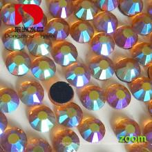 Hotfix Flat Back Ab pedra de cristal para vestido de noiva e grânulos