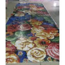 Carrelage mural en mosaïque en verre de motif de fleurs (HMP808)