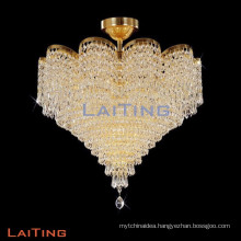 Indoor crystal handing light flush mount ceiling lighting