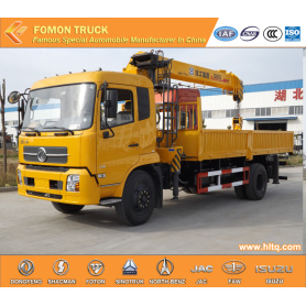 Dongfeng 4*2 truck with lifting crane 8tons