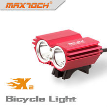 Maxtoch X2 2000LM XML U2 4 * 18650 Pack Cree Rote LED Beste Fahrradbeleuchtung