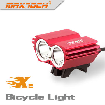 Maxtoch X2 2000LM 4 * 18650 Pack intelligente Smart LED Fahrrad Licht