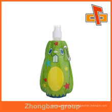 Customized shaped bag cute reusable food spout pouch with printing for liquid packaging