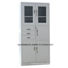 Swing Door Office Metal Filing Cabinet with Drawer and Safe Cabinet