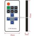 11 botones clave Controlador remoto con RF Mini controlador LED Controlador LED de 5V 12V 24v / RGB